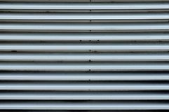 Full Frame Metal Siding. Full frame closeup view of some metal outdoor siding Stock Photography