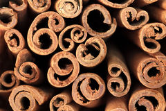 Full Frame Food Background: Cinnamon sticks Stock Photo