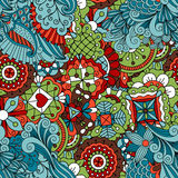 Full frame seamless floral pattern colored green Royalty Free Stock Images