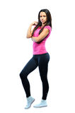Full-frame sexy fitness woman portrait Royalty Free Stock Photos