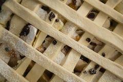 Full frame shot of apple pie in baking pan Stock Photography