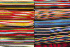 Full frame shot of multicolored fabric bolts Royalty Free Stock Images