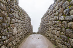 Full frame shot of a old stone wall Machu picchu Stock Images