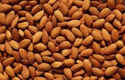 Full Frame Shot Of Raw Almonds Stock Photos