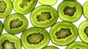 Full frame slices of kiwi stock video footage