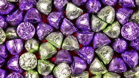 Full frame sweets background stock footage