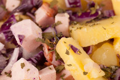 Full frame take of potato salad Royalty Free Stock Images