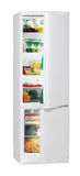 Full of fresh food refrigerator. Two door refrigerator isolated on white Royalty Free Stock Photo