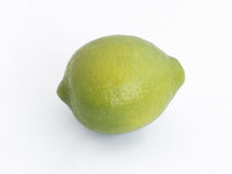 Full fresh yellow lemon  isolated on a white background Stock Photo
