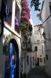 Cadaques street in Catalonia,Spain Royalty Free Stock Image