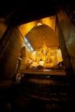 Full front view of the Mahamuni Buddha. Royalty Free Stock Photography