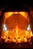 Full front view of the Mahamuni Buddha. Stock Photos