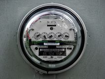 Full Frontal Electric Meter Royalty Free Stock Photography