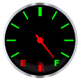 Full Fuel Gauge Stock Image