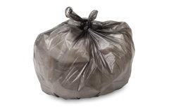 Full garbage bag isolated. On white background Stock Photography