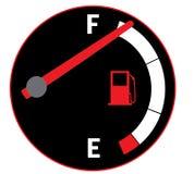 Full gas tank. Illustration of fuel gauge on car dashboard Royalty Free Stock Image