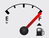 Full gas tank detail. Illustration design with icons Royalty Free Stock Image