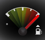 Full gas tank detail. Illustration design with icons Stock Photography