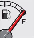 Full gas tank. Vector illustration of the Full gas tank Stock Image