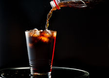 Full glass of cola Royalty Free Stock Photo
