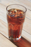 Full glass of cola Stock Photography