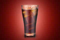Full glass of cola Royalty Free Stock Photos