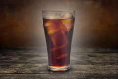 Full glass of cola Stock Image