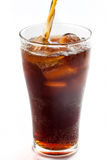Full glass of cola, isolated Royalty Free Stock Photography