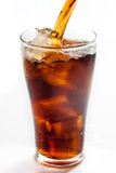 Full glass of cola Royalty Free Stock Image