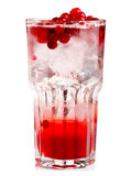Full glass of fresh cranberries nonalcoholic cocktail with berri Stock Photo