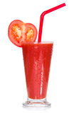 Full glass of fresh tomato juice Stock Images