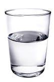 full glass hälft Royaltyfria Bilder