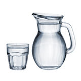 Full glass and jug isolated royalty free stock photography