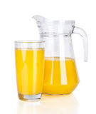 Full glass and Jug of orange juice