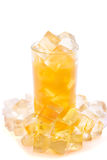 Full glass of orange juice Royalty Free Stock Images