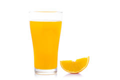 Full glass of orange juice isolated on white background Stock Photography
