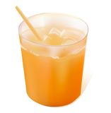 Full glass of orange juice Royalty Free Stock Image