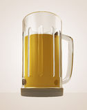 Full glass of tasty bier to big thirst render. Illustration Royalty Free Stock Images