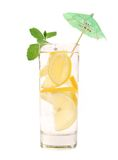 Full glass of water with lemon and mint. Stock Photography