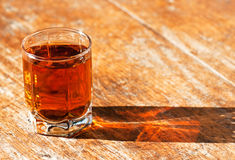 Full glass of whiskey Stock Photography