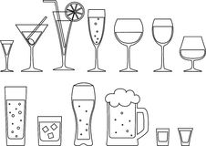 Full goblets Royalty Free Stock Image