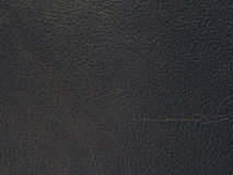 Full grain black genuine leather Royalty Free Stock Image