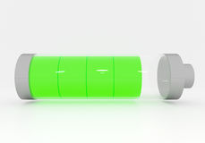 Full green Battery Royalty Free Stock Images