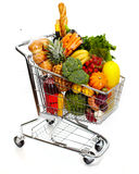 Full grocery cart. Royalty Free Stock Photography