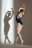 Full growth portrait of the graceful ballerina in Stock Photography
