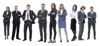 In full growth.professional business team isolated on white. Background stock photo
