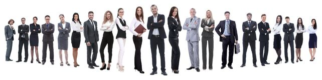 In full growth.professional business team isolated on white. Background stock image