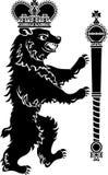 Full höjd för heraldisk björn Royaltyfria Foton