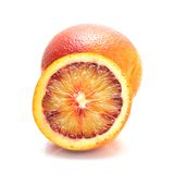Full and half of blood red oranges Stock Images