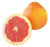 Full and half grapefruit Stock Image